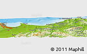 Physical Panoramic Map of Ouled Keddach