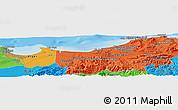 Political Panoramic Map of Assouaf