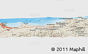 Shaded Relief Panoramic Map of Assouaf