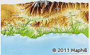 Physical 3D Map of Motril