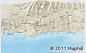 Shaded Relief 3D Map of Motril