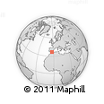 Outline Map of Cádiar, rectangular outline