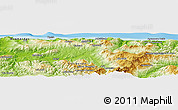 Physical Panoramic Map of Tigzirt