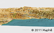 Satellite Panoramic Map of Málaga