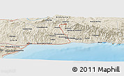 Shaded Relief Panoramic Map of Málaga
