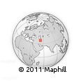 Outline Map of Babol, rectangular outline