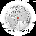 Outline Map of Behshahr, rectangular outline