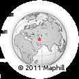 Outline Map of Gorgan, rectangular outline