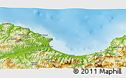 Physical 3D Map of Beni Embarek