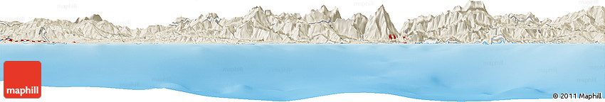 Shaded Relief Horizon Map of Arezzou