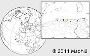"""Blank Location Map of the area around 36°47'25""""N,5°10'30""""E"""