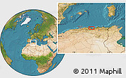 """Satellite Location Map of the area around 36°47'25""""N,5°10'30""""E"""