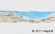 "Shaded Relief Panoramic Map of the area around 36° 47' 25"" N, 5° 10' 30"" E"