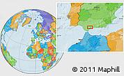 Political Location Map of Mijas