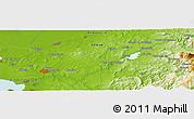 Physical Panoramic Map of Caserío Las Carboneras