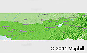Political Panoramic Map of Benamahoma
