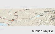 Shaded Relief Panoramic Map of Benamahoma
