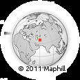 Outline Map of Ţāherābād-e Torkhā, rectangular outline