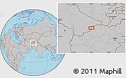 Gray Location Map of Āltī Būlāq