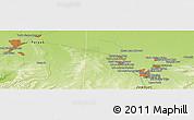 Physical Panoramic Map of Yūsof Mīrzā'ī