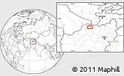 Blank Location Map of Āsīā-ye Moḩammad Ebrāhīm Khān