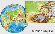 Physical Location Map of Āsīā-ye Moḩammad Ebrāhīm Khān