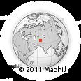 Outline Map of Alek Robāţ, rectangular outline