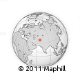 Outline Map of Mazār-e Sharīf, rectangular outline