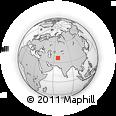 Outline Map of Balkh, rectangular outline