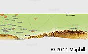 Physical Panoramic Map of Mazār-e Sharīf