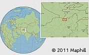 "Savanna Style Location Map of the area around 36°47'25""N,68°4'29""E"