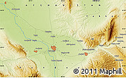 """Physical Map of the area around 36°47'25""""N,68°55'30""""E"""