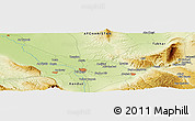 """Physical Panoramic Map of the area around 36°47'25""""N,68°55'30""""E"""