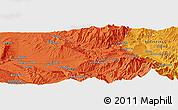 Political Panoramic Map of Tāloqān