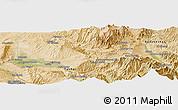 Satellite Panoramic Map of Tāloqān