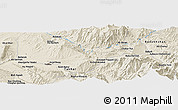 Shaded Relief Panoramic Map of Tāloqān