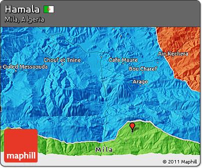 Political 3D Map of Hamala