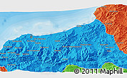 Political 3D Map of Jijel