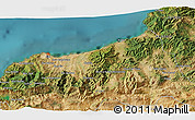 Satellite 3D Map of Jijel