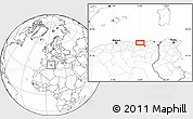 """Blank Location Map of the area around 36°47'25""""N,6°1'30""""E"""