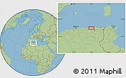 "Savanna Style Location Map of the area around 36°47'25""N,6°1'30""E"