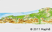 Physical Panoramic Map of Bou Amara