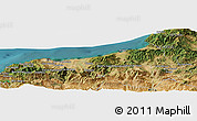 Satellite Panoramic Map of Bou Amara