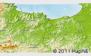 Physical 3D Map of Skikda