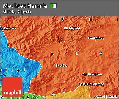 Political Map of Mechtet Hamrîa