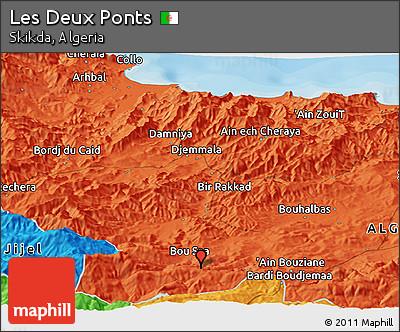 Political Panoramic Map of Les Deux Ponts