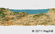 Satellite Panoramic Map of Dem el Begrat