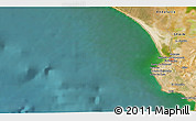 """Satellite 3D Map of the area around 36°47'25""""N,6°43'29""""W"""