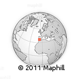 """Outline Map of the Area around 36° 47' 25"""" N, 6° 43' 29"""" W, rectangular outline"""