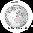 Outline Map of La Algaida, rectangular outline